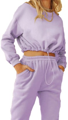 Steve Madden Hoodie And Track Pant Set Purple