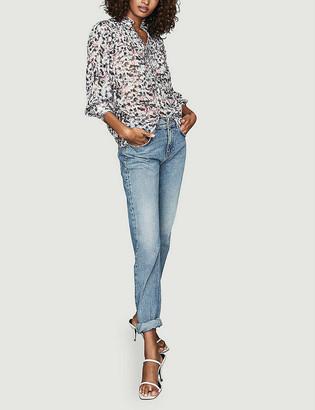 Reiss Talia floral-print woven blouse