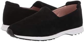 Taryn Rose Briella (Black Stretch Suede) Women's Slip on Shoes