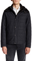 Vince Genuine Leather Hood Quilted Jacket