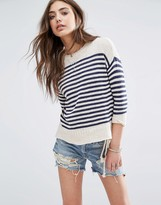 Denim & Supply By Ralph Lauren Striped Crew Neck Jumper