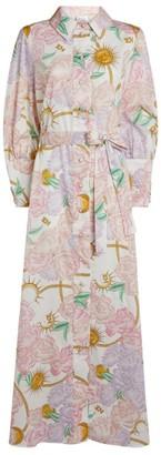Hayley Menzies Luna Flora Maxi Shirt Dress