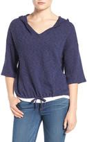 Caslon Textured Pullover Hoodie (Petite)