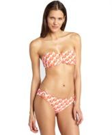 Shoshanna orange 'Zulu' print button bikini bottom