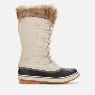 Sorel Women's Joan Of Arctic Waterproof Suede Knee High Winter Boots - Dark Stone/Sea Salt