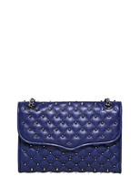 Quilted Affair With Studs Leather Bag