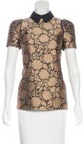 Louis Vuitton Short Sleeve Jacquard Top