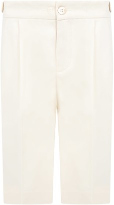 Gucci Ivory Shorts For Boy With Logo
