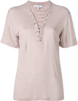 IRO laced neck T-shirt