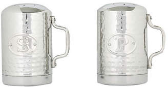 Old Dutch Stainless Steel Hammered Stovetop Salt and Pepper Set