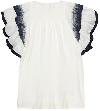 Chloé Kids Stretch-silk dress