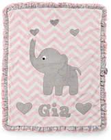 Boogie Baby Plush Chevron Elephant Blanket, Pink