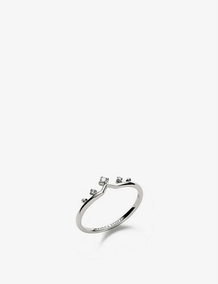 Kendra Scott Michelle 14ct white-gold and diamond ring