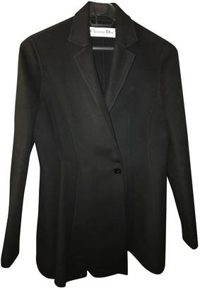 Christian Dior Black Wool Coats