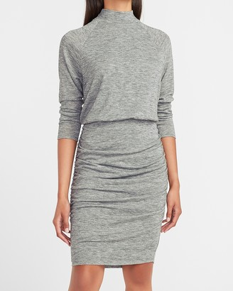Express Supersoft Long Sleeve Mock Neck Dress