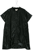 Andorine - oversized zipped coat - kids - Viscose/Polyurethane - 14 yrs