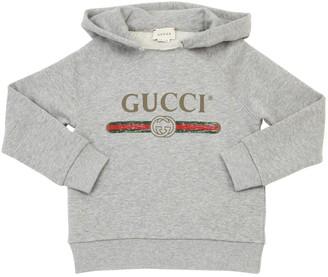 Gucci LOGO PRINT COTTON SWEATSHIRT HOODIE
