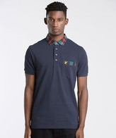 Lyle & Scott Tartan Collar Pocket Polo