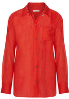 Etoile Isabel Marant Lindsey Cotton And Silk-Blend Broadcloth Shirt