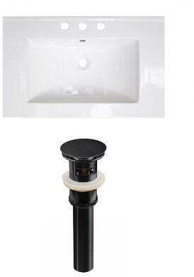"American Imaginations Ceramic 24"" Single Bathroom Vanity Top Faucet Mount: 8"" Centers"