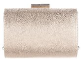 Jimmy Choo Metallic Leather Hinge Clutch