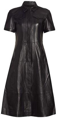 Proenza Schouler White Label Leather Shirtdress