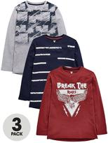 Very L/S 3 PACK FASHION T-SHIRTS
