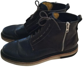Fendi Blue Leather Boots