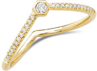 Ron Hami Love Bolt 14k Diamond Stack Ring