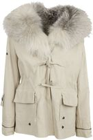 Ermanno Scervino Fur Applique Coat