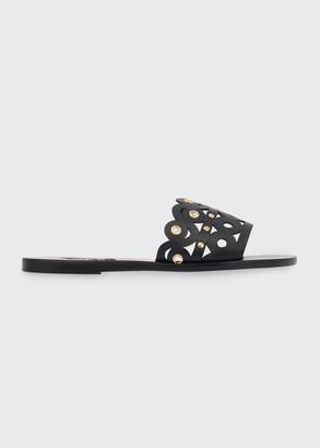 Ancient Greek Sandals Maistro Mirrors Leather Slide Sandals