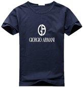Giorgio Armani Men's Classic Logo Short Sleeve Graphic T-Shirt