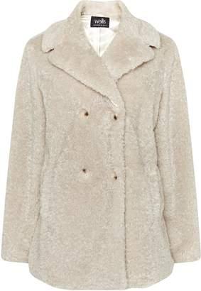 Wallis Cream Faux Fur Teddy Coat