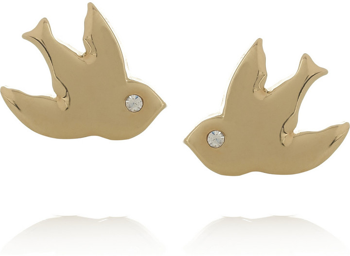 Marc by Marc Jacobs Oiseau D'Amour gold-tone crystal earrings