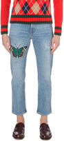 Gucci butterfly regular-fit straight jeans