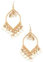 Dangle Charm and Multi Tassel Drop Earrings