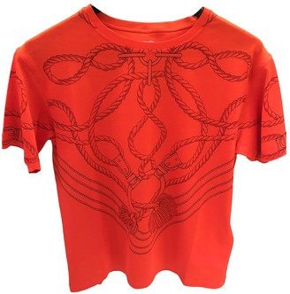 Hermes Red Cotton Top for Women