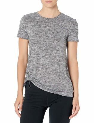 Danskin Women's Side Scrunch Short Sleeve T-Shirt