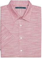 Perry Ellis Short Sleeve Solid Slub Texture Button-Down Shirt