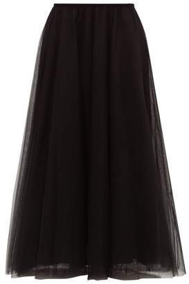 Raey Elasticated-waist Tulle Maxi Skirt - Womens - Black