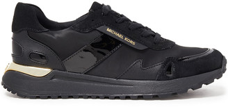 MICHAEL Michael Kors Paneled Leather, Suede And Neoprene Sneakers
