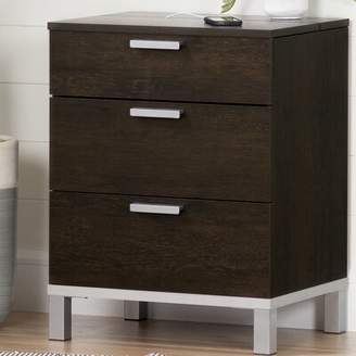 South Shore Flexible 3 Drawer Nightstand South Shore Color: Brown Oak