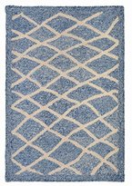 "Liora Manné Croton Spiral Indoor/Outdoor Rug, 24"" x 36"", Denim Blue"