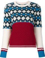 Sea woven multi print jumper