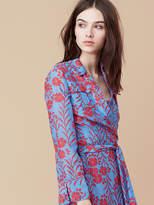Diane von Furstenberg Collared Wrap Dress