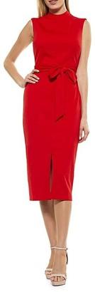 Alexia Admor Fara High-Neck Tie-Waist Sheath Dress