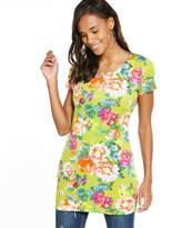 Very Floral Print Scuba Tunic
