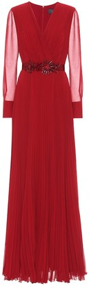 Max Mara Genarca georgette sable dress