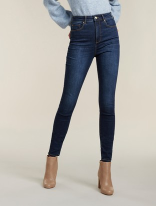 Forever New Bella Tall High-Rise Sculpting Jeans - Havana Blue - 4