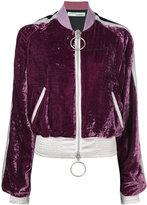 Off-White velvet bomber jacket - women - Silk/Polyamide/Polyester/Viscose - 40